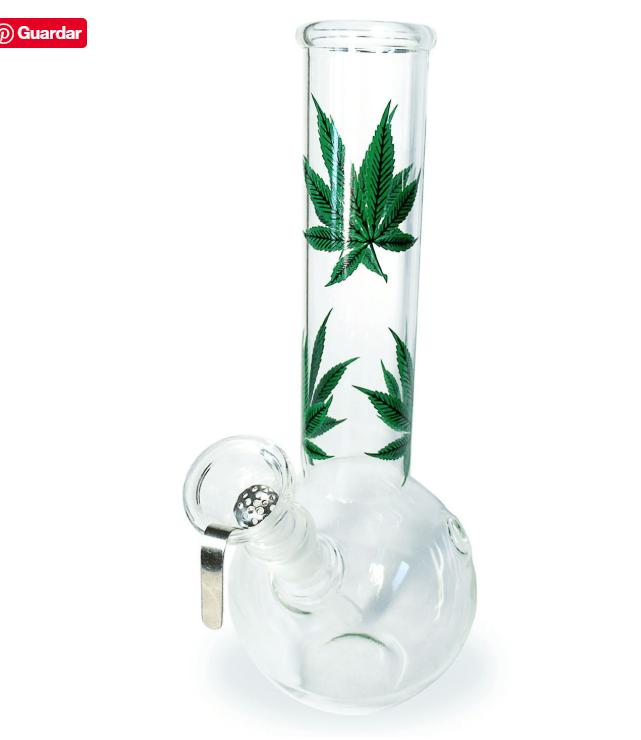Bong vidrio 22 cm diseño de cáñamo - 14.5 chillum - tamices incluidos