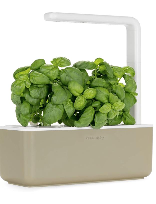lick & Grow Smart Garden with 3 Basil Cartridges, Barro