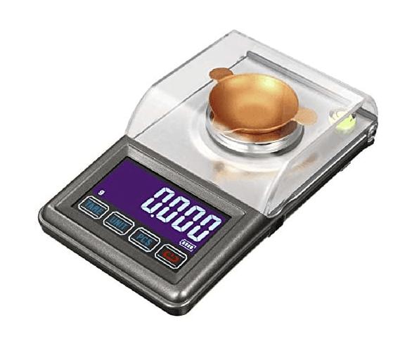 Nrpfell BáScula Digital de Carga USB 50G / 0.001G BáScula de Alta PrecisióN Joyas BáScula de Diamante Equilibrio de Pesaje BáScula ElectróNica Herramientas de MedicióN